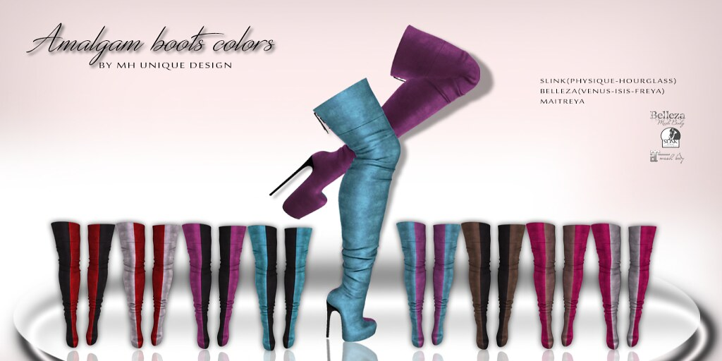 Amalgam boots colors - TeleportHub.com Live!