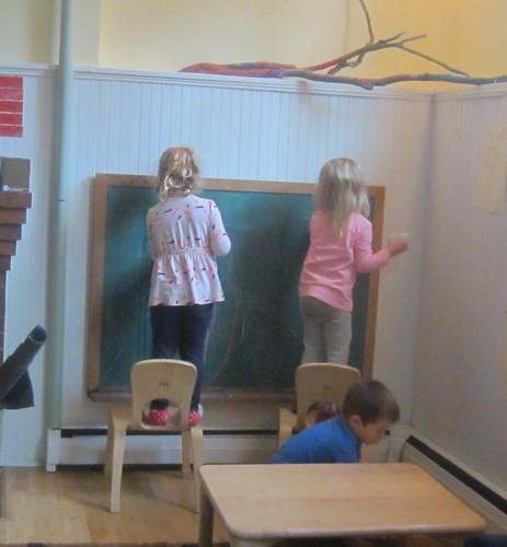 washing the chalkboard