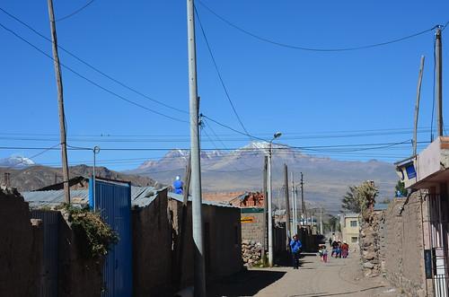 Blick auf ein Bergpanorama bei Chivay