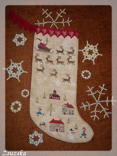 wtnt, homefortheholidays, crossstitch, with thy needle, christmas, stocking