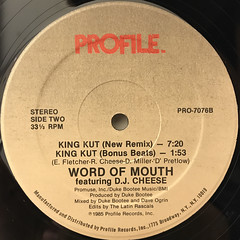 WORD OF MOUTH:KING KUT(LABEL SIDE-B)