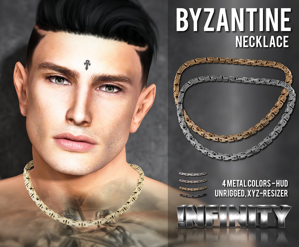 !NFINITY Byzantine Necklace AD for Men Only Hunt 10! - TeleportHub.com Live!