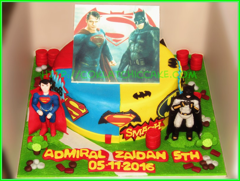 Cake Batman vs Superman Zaidan