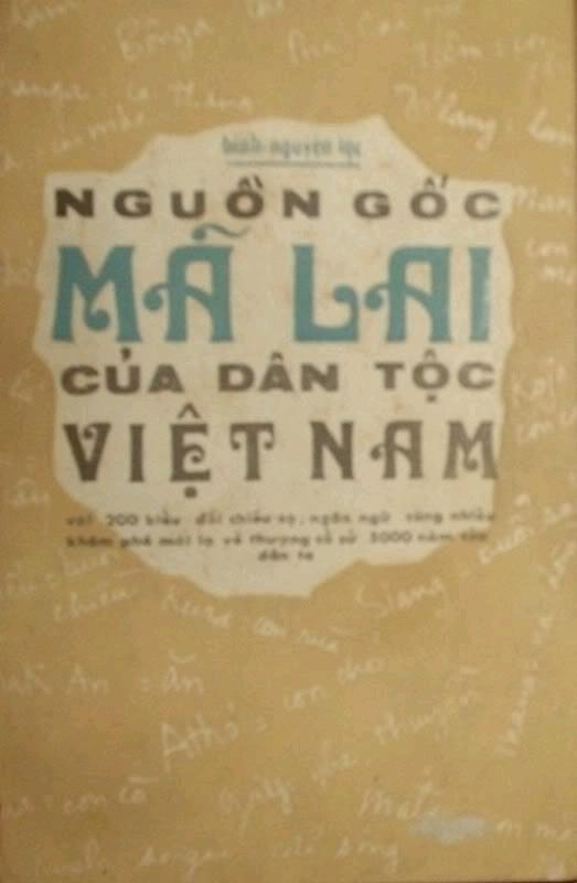 Nguồn gốc Mã Lai của dân tộc Việt Nam - Bình Nguyên Lộc