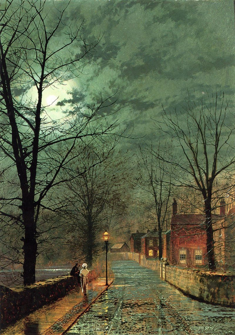 The Gossips, Bonchurch, Isle of Wight by John Atkinson Grimshaw, 1880