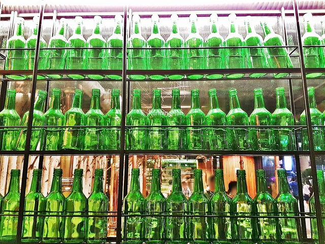 Glass Bottles On The Wall