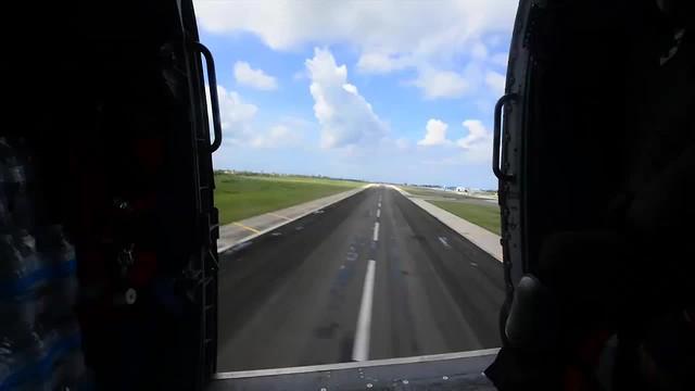 Coast Guard aircrew delivers FEMA aid to hospital in Mayaguez, Puerto Rico