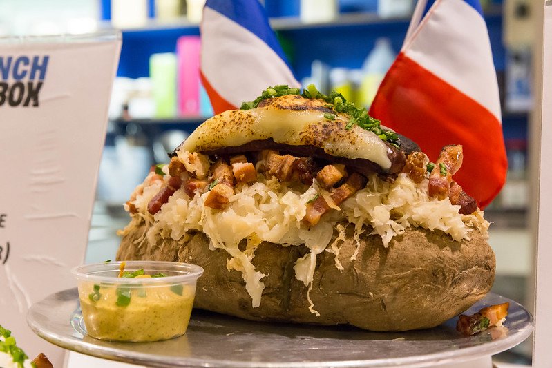 Le Haute Dog (French-style hot dog) at Chicago French Market
