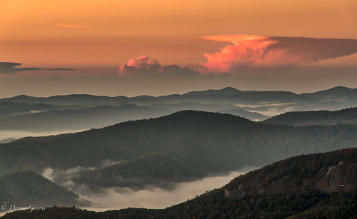 autumn brevard clouds fall landscape landscapemountain mountains northcarolina sunrise