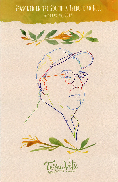 Seasoned in the South: A Tribute to Bill Smith, my portrait illustration
