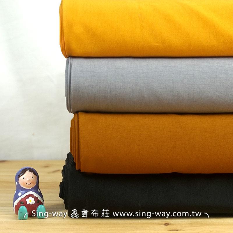 素面袈紗布 棉麻混紡 簡約無印 禪風 中國服裝布料 FA490185