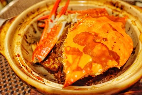 渡蟹と中国春雨の土鍋焼き