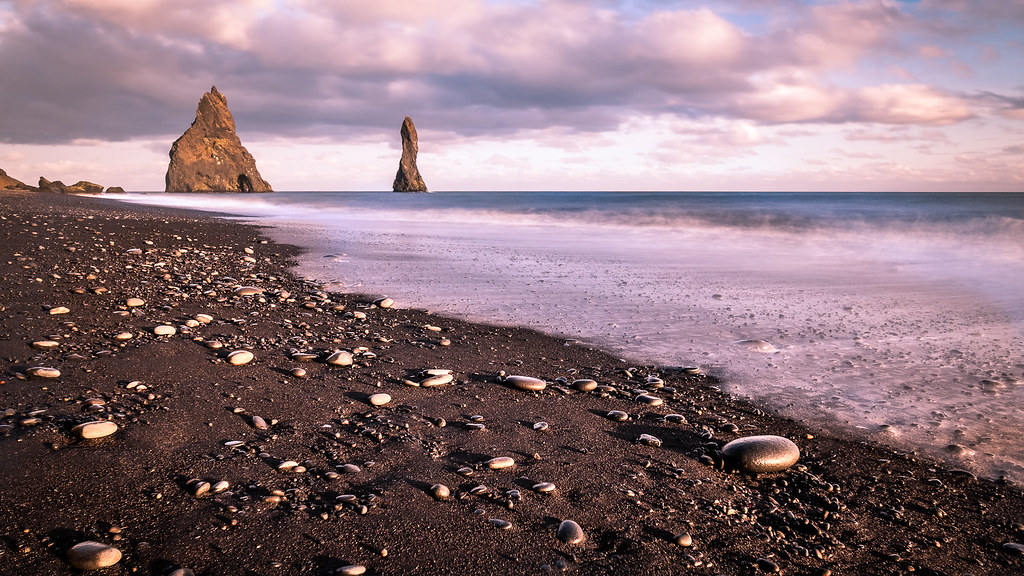 The black sand beach, Iceland picture