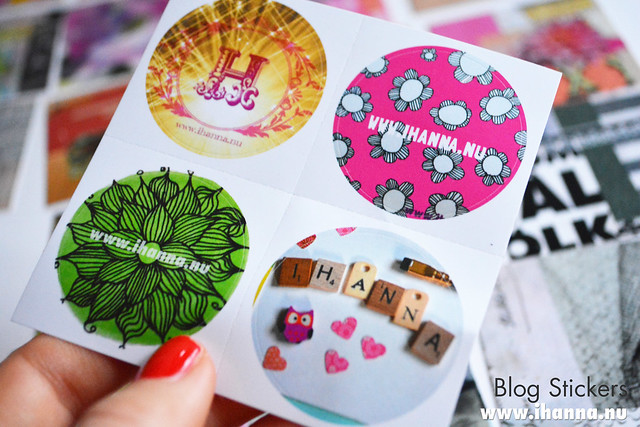 Round Blog Stickers blog post by iHanna