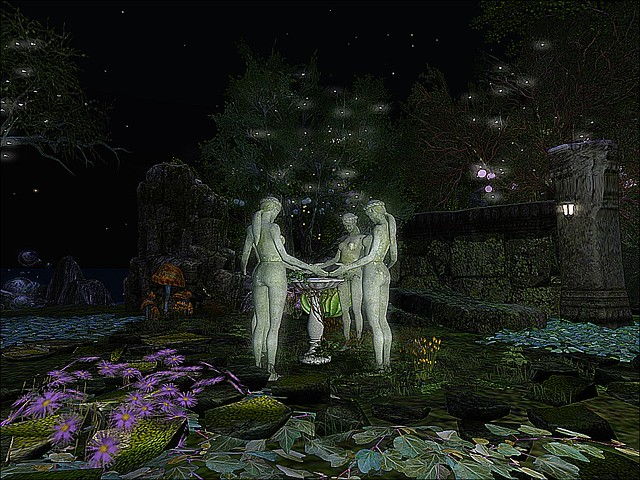 LEA27 - Image Monsters Tea Party - Fantasy Forest Clearing