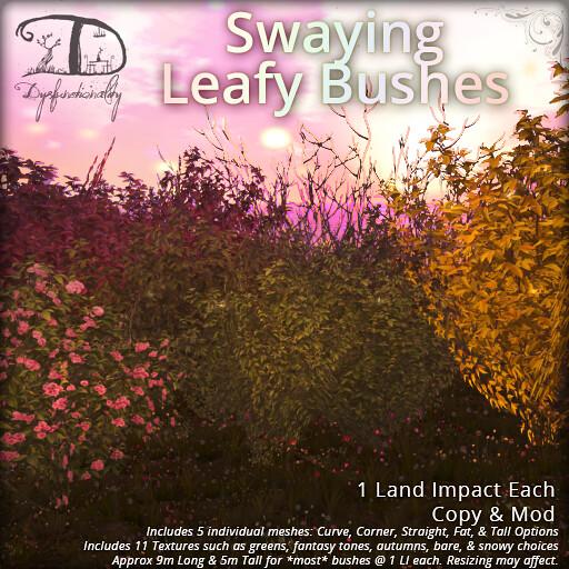 Swaying Leafy Bushes - TeleportHub.com Live!