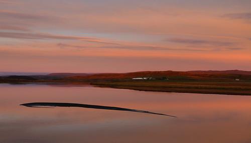 tungufljót biskupstungur suðurland iceland river sunset sky clouds reflection farm landscape october 2017