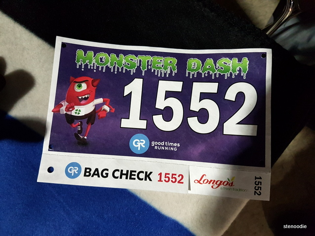 Monster Dash 2017 bib