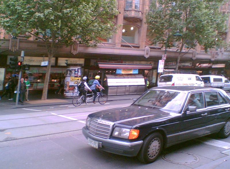 Swanston Street - tandem and Merc