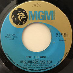 ERIC BURDON & WAR:SPILL THE WINE(LABEL SIDE-A)