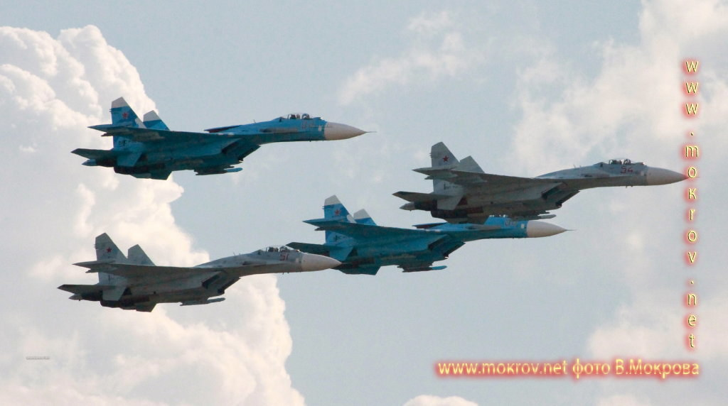 Проход 4х Су-34.