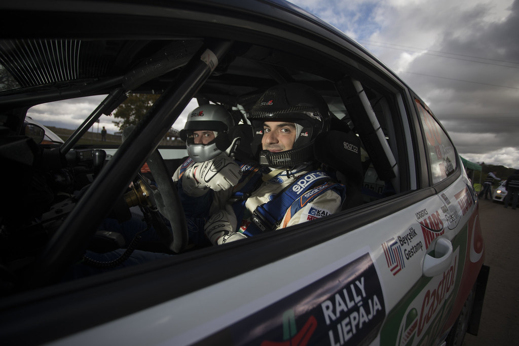 Bostanci Murat and Vatansever Onur, Castrol Ford Team Türkiye, Ford Fiesta R2T ambiance portrait during the 2017 European Rally Championship ERC Liepaja rally,  from october 6 to 8, at Liepaja, Lettonie - Photo Gregory Lenormand / DPPI
