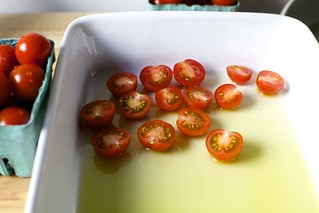 arrange tomatoes cut side up