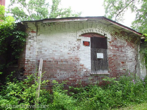 There are quite a few bits of history along the Keuka Outlet Trail, including this brick building near Penn Yan and Dresden, New York