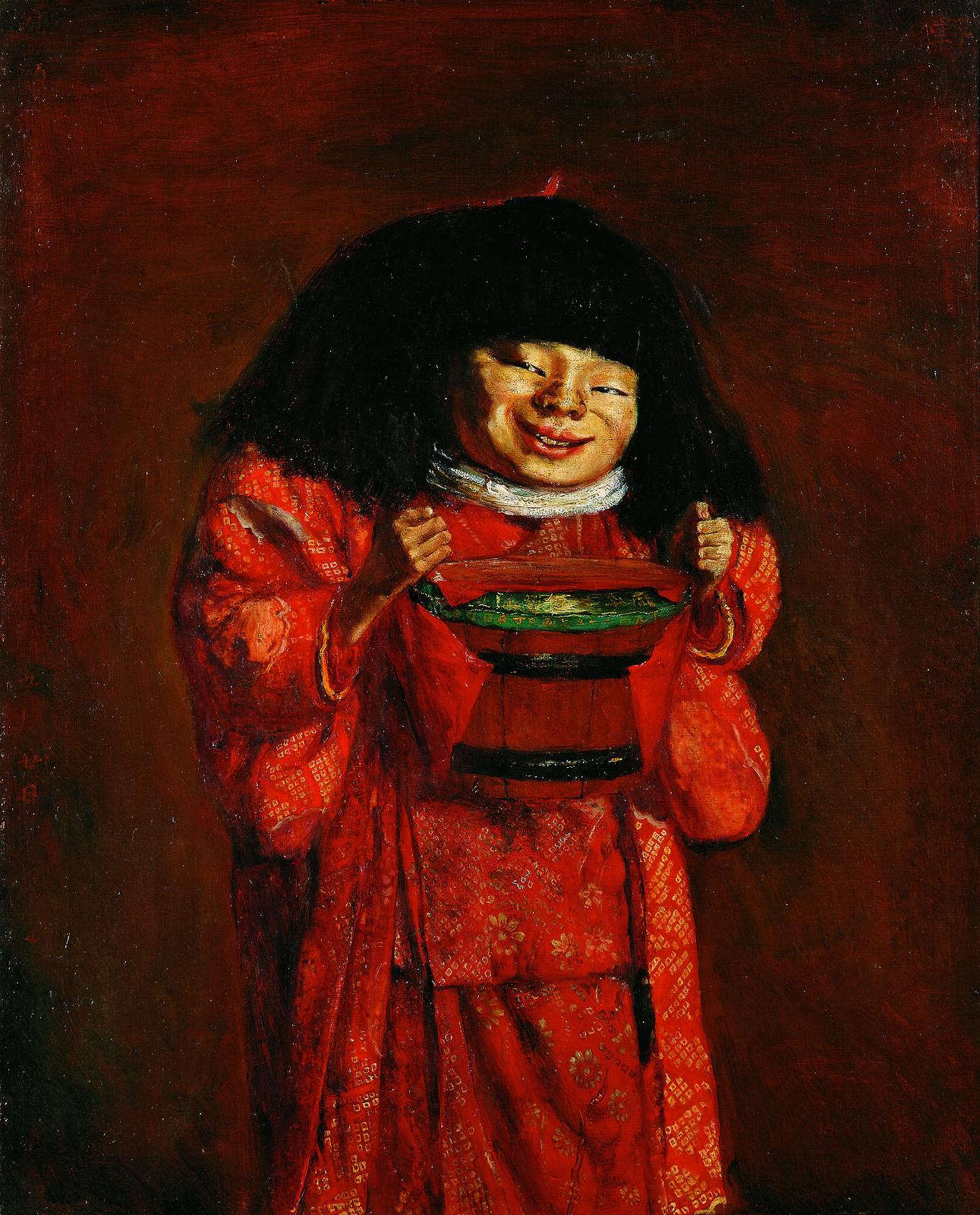 岸田劉生《野童女》(1922年、神奈川県立近代美術館寄託)