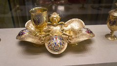 The golden chalice and tray at Egypt's Royal Jewelry Museum