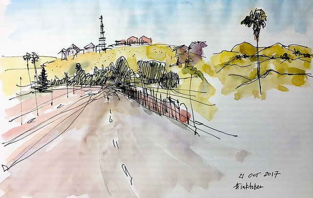 road sketch san jose hills