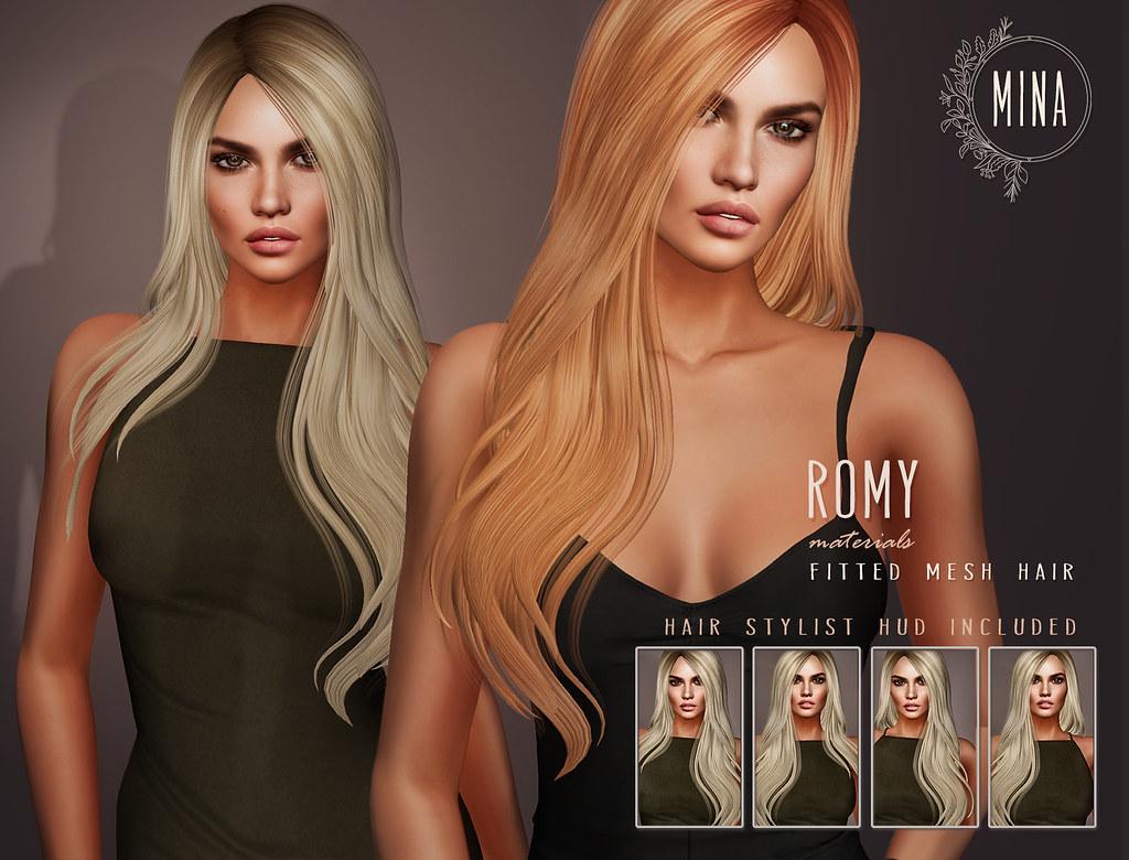MINA Hair - Romy for FaMESHed - TeleportHub.com Live!