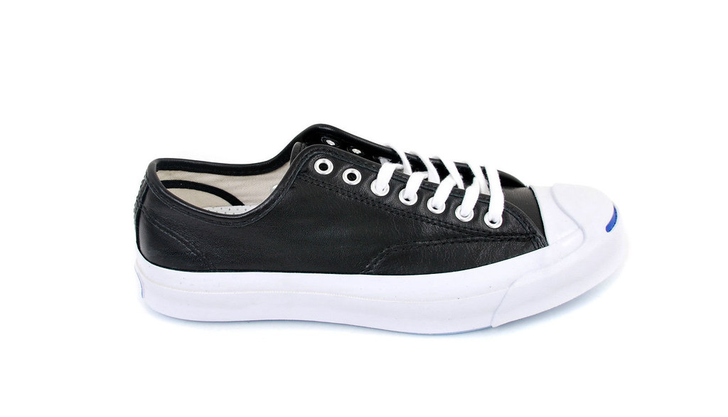 58da6bca7675 Converse Unisex Jack Purcell Signature OX Trainers Black White Size ...
