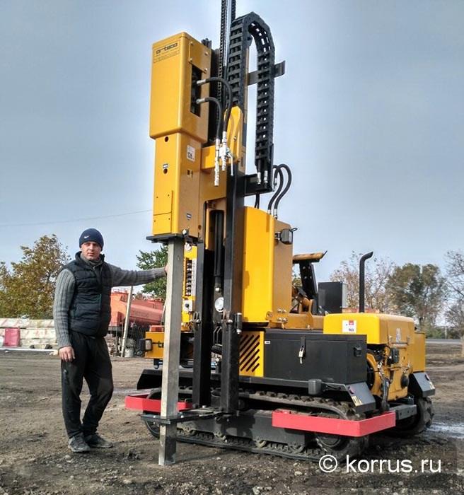 в г. Ставрополь запущена в работу ранее реализованная Покупателю из Москвы самоходная сваебойная машина ORTECO BTP HEAVY DUTY в стандартной комплектации