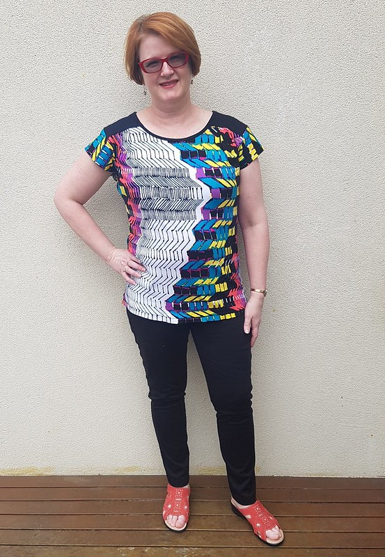 Liesl and Friends Chai Tee in viscose spandex from The Cloth Shop