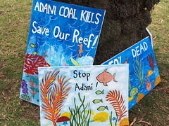 IMG_4785 - Save the Reef Stop Adani signs