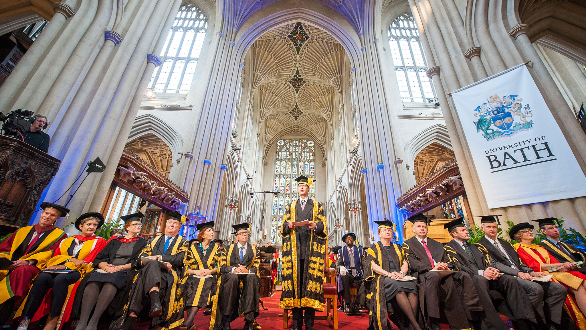 Award ceremony in Bath abbey