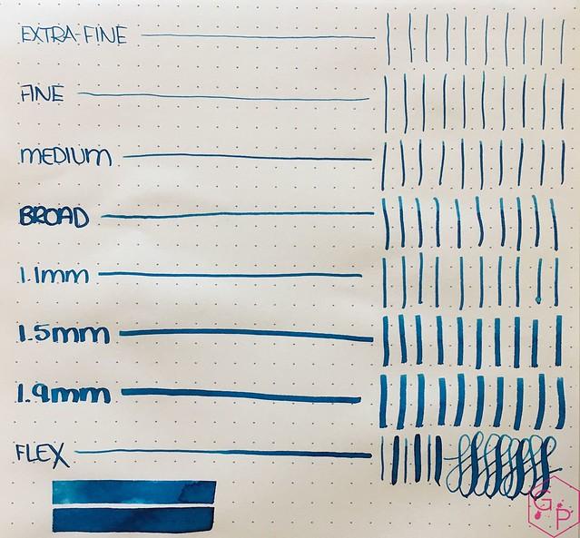 Ink Shot Review @RobertOsterInk Blue Water Ice @MilligramStore 5