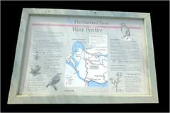 West Pentire Information Board Polly Joke Cornwall