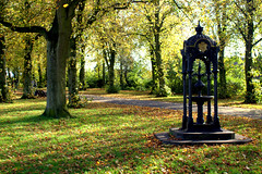 Victorian fountain at Haslam Park, Preston