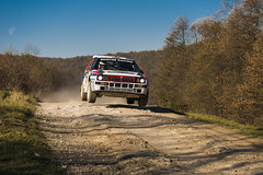 Lancia Delta  Integrale  competes at the annual Rally Galicia