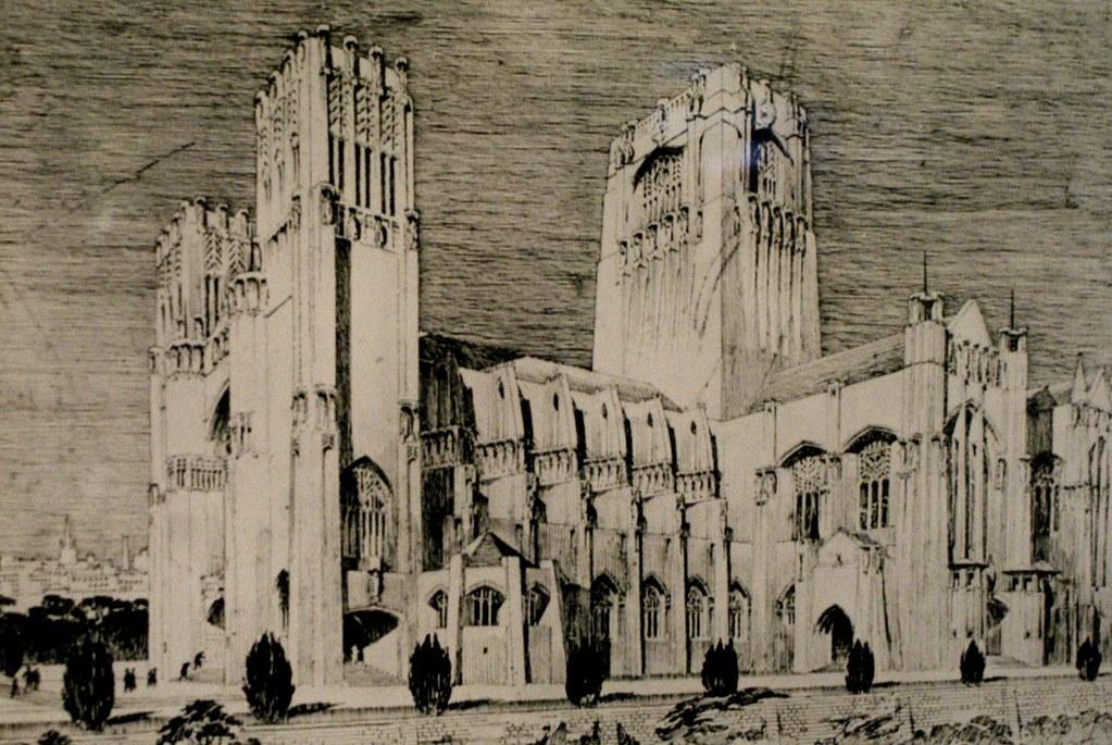 Projet architectural non réalisé de Mackintosh.