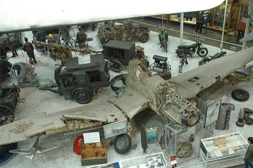 Junkers Ju-87 Stuka wreck at the Auto & Technik museum, Sinsheim
