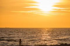 A swim at Sunset
