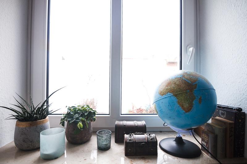 Fensterbank Dekoration Zimmerpflanzen Schlafzimmer