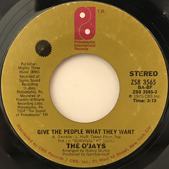 THE O'JAYS:WHAT AM I WAITING FOR(LABEL SIDE-B)