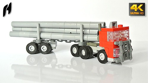 Lego Timber Transport Truck with Trailer (MOC - 4K)