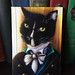 Mr Darcy Tuxedo Cat Painting