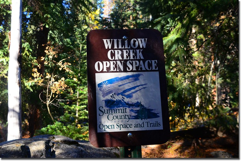 Willow Creek Open Space sign