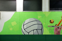 School gym - detail 8: ball of volleyball - by WIZ ART